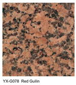 Red Guilin granite