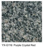Purple Crystal Red granite